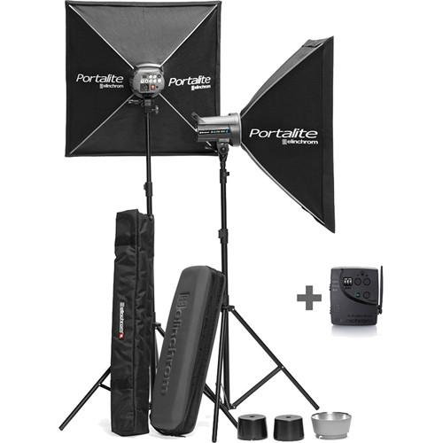 Elinchrom D-Lite RX 2 2-Light To Go Kit with Stands EL20841.2