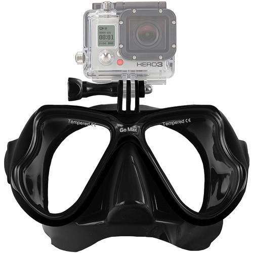 GoMax  GoPro Scuba Diving Mask (Black) MASK01-BLK