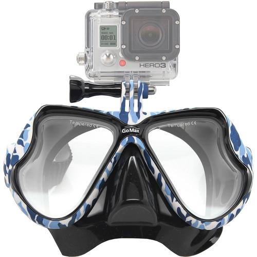GoMax GoPro Scuba Diving Mask (Navy Camo) MASK01-BCM