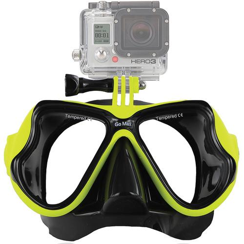 GoMax GoPro Scuba Diving Mask (Yellow) MASK01-YLW