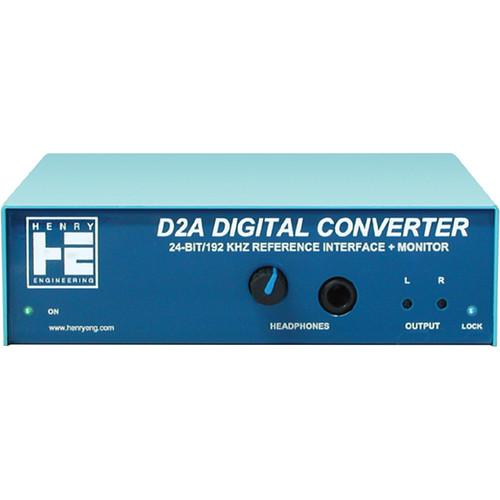 Henry Engineering D2A Digital Converter 24-bit/192 kHz DDC