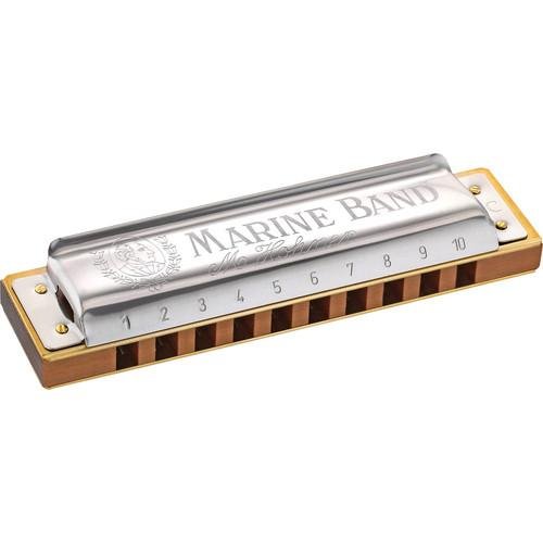 Hohner Hohner Marine Band Harmonica with Retail Box 1896BX-M-G#