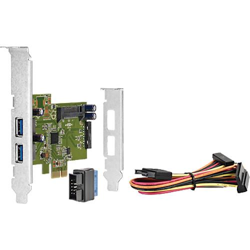 HP 4-Port USB 3.0 SuperSpeed PCIe 1x Card QT587AA
