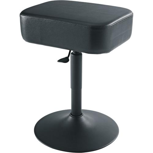 K&M 14093 Square Piano Stool (Black) 14093-000-55