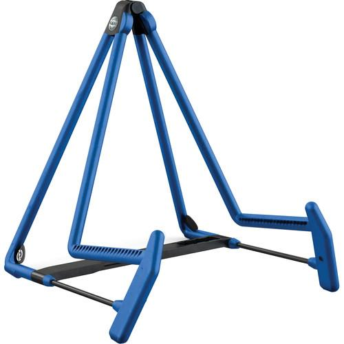 K&M 17580 Heli-2 Acoustic Guitar Stand (Blue) 17580-014-54