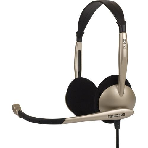 Koss CS100 USB Over-The-Head Headset With Noise Reduction 178188