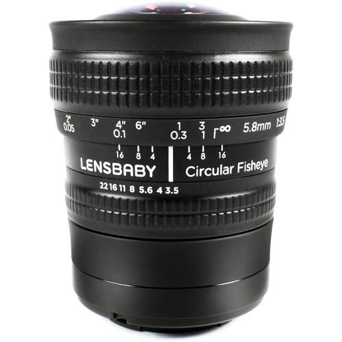 Lensbaby 5.8mm f/3.5 Circular Fisheye Lens for Sony E LBCFEX