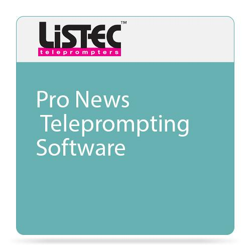 Listec Teleprompters Pro News Teleprompting Software LT-PRONEWS