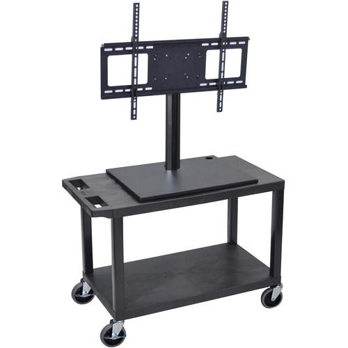 Luxor ET25E-B Mobile Cart with Universal LCD TV Mount ET25E-B