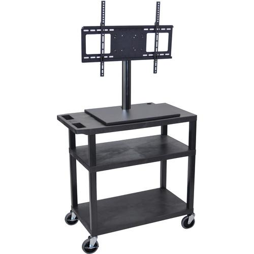 Luxor ET34E-B Mobile Cart with Universal LCD TV Mount ET34E-B