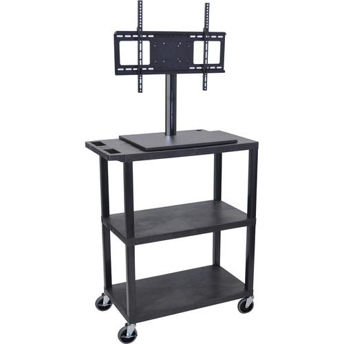 Luxor ET38E-B Mobile Cart with Universal LCD TV Mount ET38E-B
