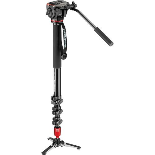 Manfrotto MVM450A Aluminum Monopod and Fluid Head MVM450A