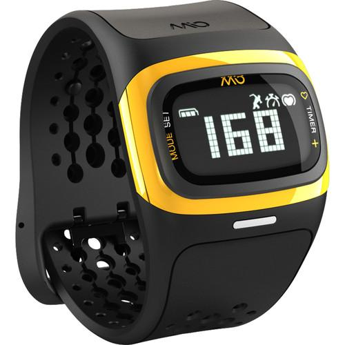 Mio Global ALPHA 2 Heart Rate Sport Watch (Yellow Trim) 58P-YLW