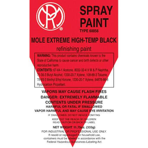 Mole-Richardson Extreme Hi-Temp Enamel Spray Paint AC272