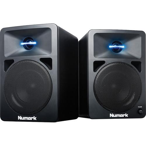 Numark N-Wave 580- Powered Desktop DJ Monitors (Pair) N-WAVE 580