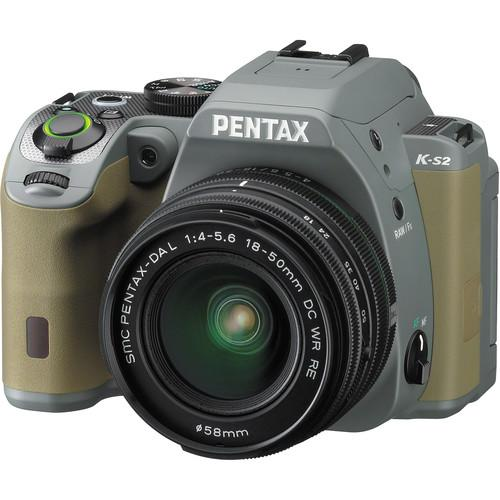 Pentax K-S2 DSLR Camera with 18-50mm Lens (Forest Green) 13960