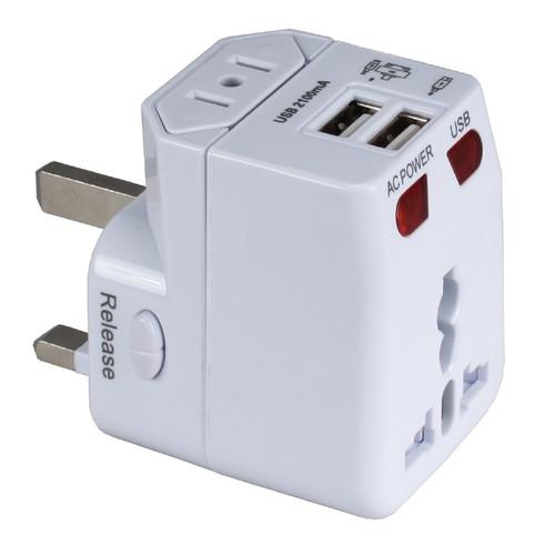 QVS Premium World Power Travel Adapter Kit (White) PA-C4