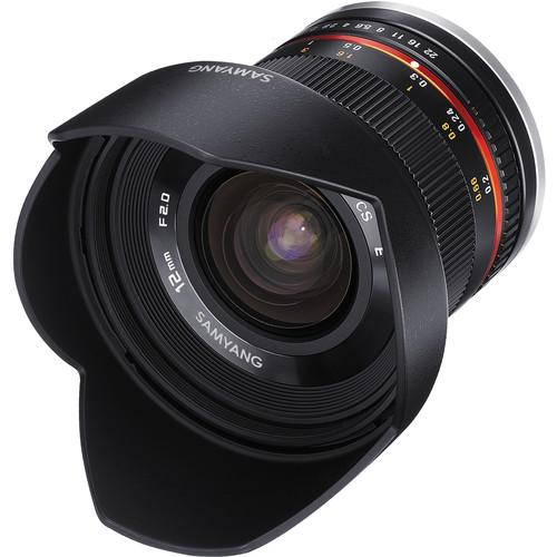 Samyang 12mm f/2.0 NCS CS Lens for Micro Four SY12M-MFT-BK