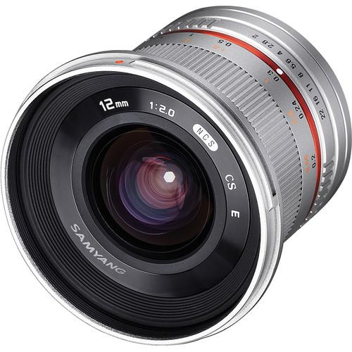 Samyang 12mm f/2.0 NCS CS Lens for Micro Four SY12M-MFT-SIL