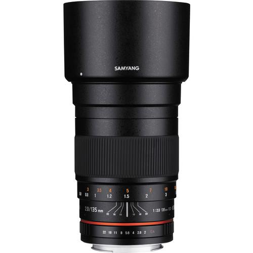 Samyang 135mm f/2.0 ED UMC Lens for Nikon F Mount SY135M-N
