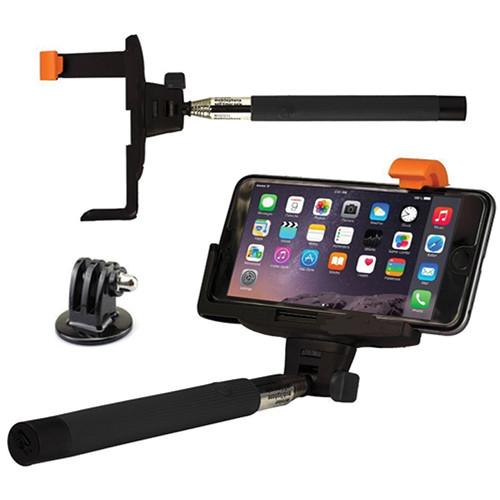 SHILL Extendable Pole with GoPro and Smartphone Mounts SLEM-01