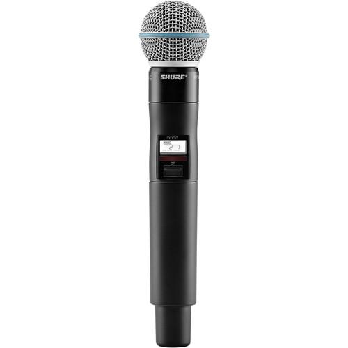 Shure QLXD2/Beta58A Handheld Wireless Microphone QLXD2/B58=-J50