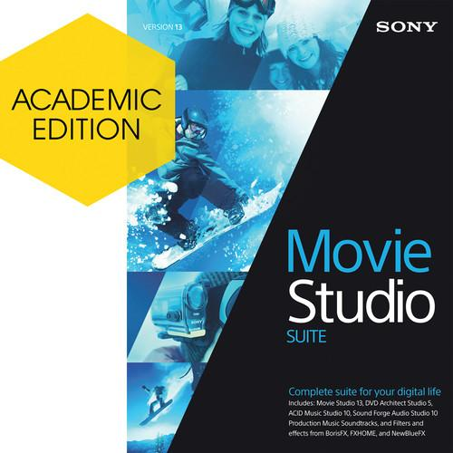 Sony Movie Studio 13 Suite (Academic, Download) ASMST13099ESD