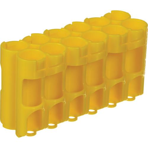 STORACELL 12 AA Pack Battery Caddy (Yellow) 12AACY
