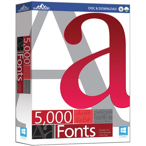 Summitsoft  5000 Fonts (Download) 00389-6