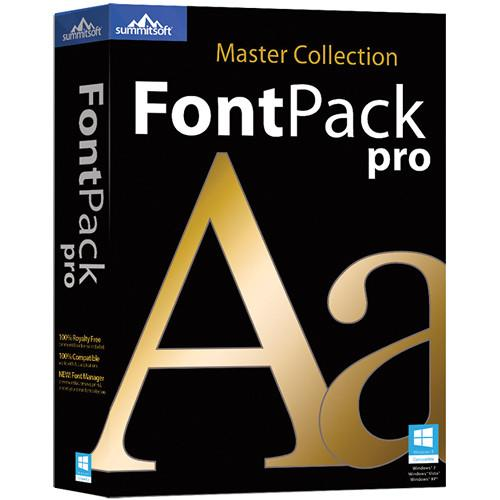 Summitsoft FontPack Pro Master Collection 2015 for PC 00357-2