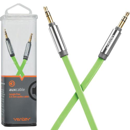 Ventev Innovations  Aux Cable (Green, 4') 512905