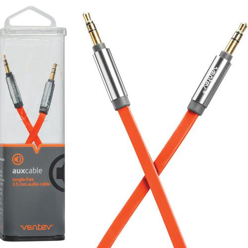 Ventev Innovations  Aux Cable (Orange, 4') 542906