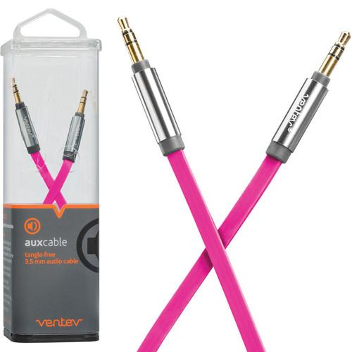 Ventev Innovations  Aux Cable (Pink, 4') 542908