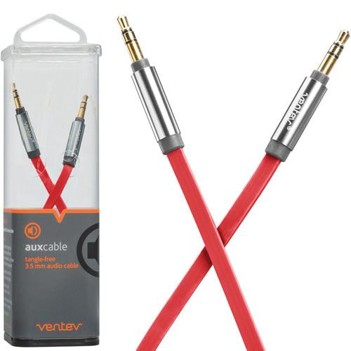 Ventev Innovations  Aux Cable (Red, 4') 517093