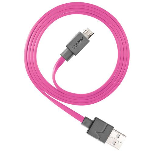 Ventev Innovations Chargesync Micro-USB Cable (Pink, 3.3')
