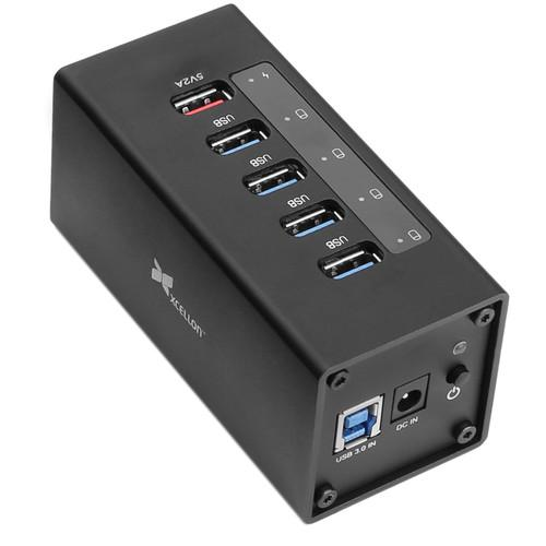 Xcellon 5-Port Powered USB 3.0 Aluminum Hub with 1 USB-5PCH
