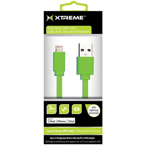 Xtreme Cables 3' USB to 8-Pin Lightning Flat Tangle Free 59864