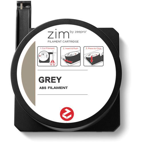 Zeepro zim ABS Filament Cartridge (0.5 lb, Grey) ZP-ABS GRY