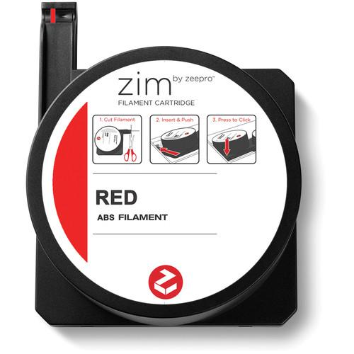 Zeepro zim ABS Filament Cartridge (0.5 lb, Red) ZP-ABS RED