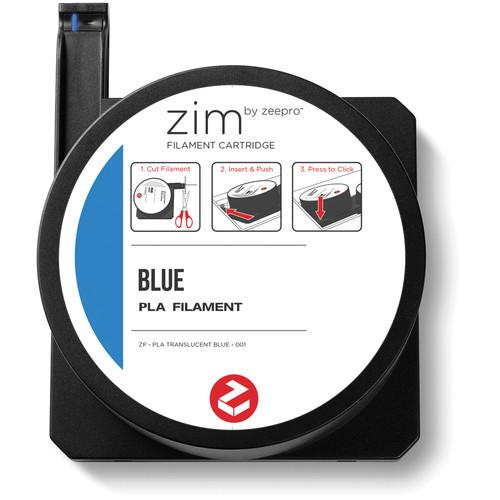 Zeepro zim PLA Filament Cartridge (0.6 lb, Blue) ZP-PLA BLU
