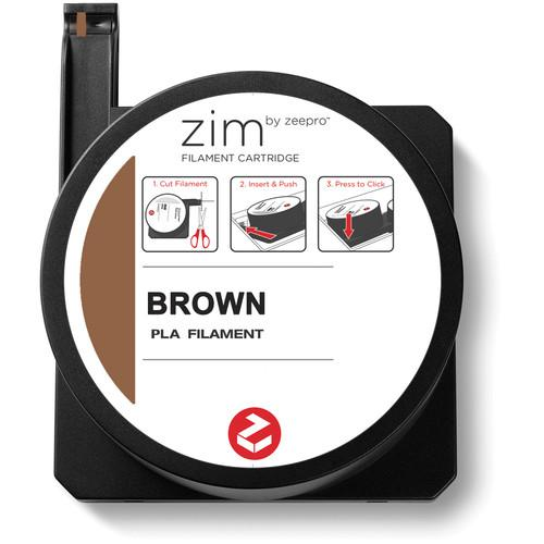 Zeepro zim PLA Filament Cartridge (0.6 lb, Brown) ZP-PLA BRW