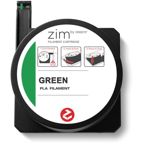 Zeepro zim PLA Filament Cartridge (0.6 lb, Green) ZP-PLA GRN