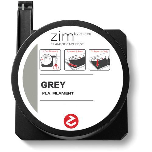 Zeepro zim PLA Filament Cartridge (0.6 lb, Grey) ZP-PLA GRY