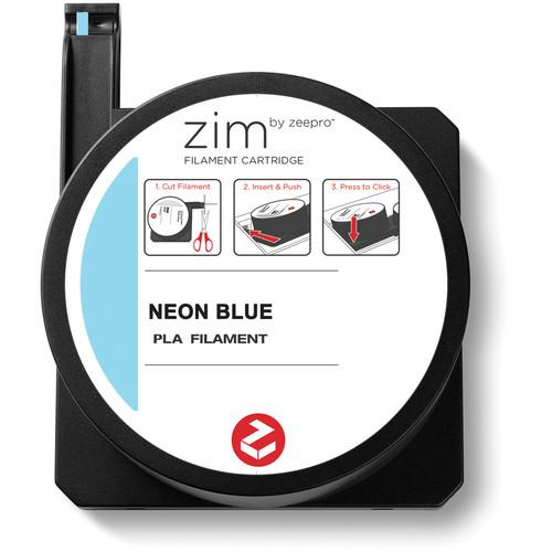 Zeepro zim PLA Filament Cartridge (0.6 lb, Neon Blue) ZP-PLA