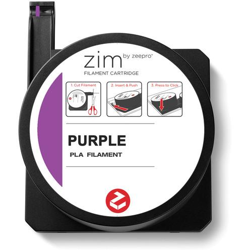 Zeepro zim PLA Filament Cartridge (0.6 lb, Purple) ZP-PLA PUR