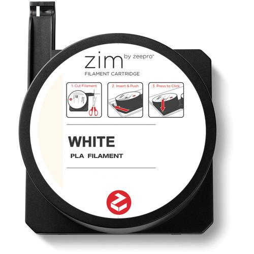Zeepro zim PLA Filament Cartridge (0.6 lb, White) ZP-PLA WHT