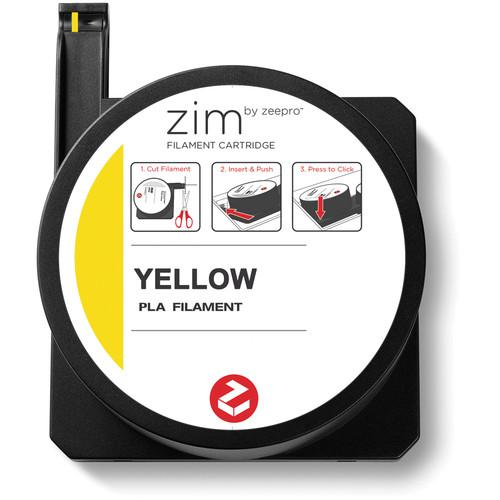 Zeepro zim PLA Filament Cartridge (0.6 lb, Yellow) ZP-PLA YLW