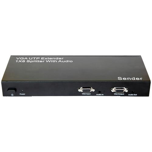 A-Neuvideo VGA Cat5 Extender Splitter 1x8 with Audio ANI-0108VC