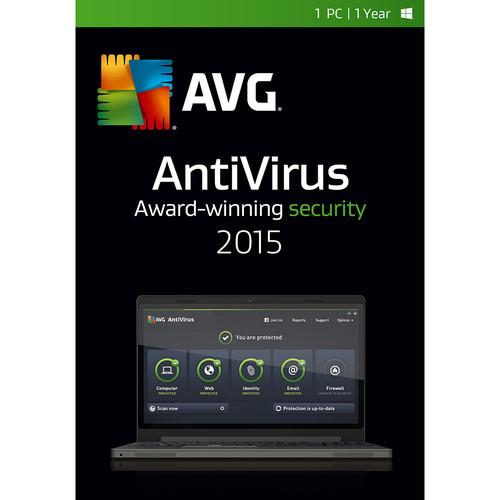 AVG AntiVirus 2015 (1-PC, 1-Year Subscription) AV15N12EN001
