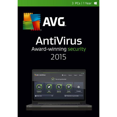 AVG AntiVirus 2015 (3-PCs, 2-Year Subscription) AV15N24EN003